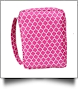 Bible Cover with Zipper Closure - HOT PINK QUATREFOIL
