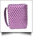 Bible Cover with Zipper Closure - PURPLE QUATREFOIL