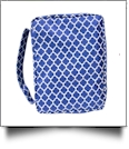Bible Cover with Zipper Closure - NAVY QUATREFOIL