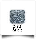 "Glitter Flake Heat Transfer Vinyl 20"" x 1 Yard Roll - BLACK SILVER"
