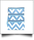 Chevron Crossbody Messenger Bag - LIGHT BLUE - CLOSEOUT