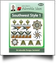 Southwest Style 1 Embroidery Designs by John Deer's Adorable Ideas - Multi-Format CD-ROM