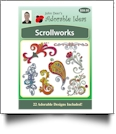 Scrollworks Embroidery Designs by John Deer's Adorable Ideas - Multi-Format CD-ROM