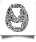 Quatrefoil Jersey Knit Infinity Scarf Embroidery Blanks - GRAY