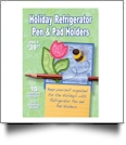 Holiday Refrigerator Pen & Pad Holders Embroidery Designs by Dakota Collectibles on a CD-ROM 970582