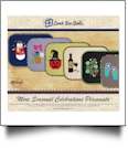 More Seasonal Celebrations Applique Embroidery Designs by Lunch Box Quilts on a CD-ROM