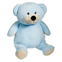 "Embroidery Buddy Stuffed Animal - Mister Buddy Bear 16"" - BLUE"
