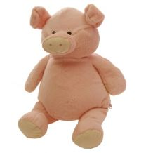 Embroidery Buddy Stuffed Animal - Sweetie Piggy Pal 16""