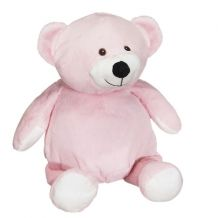 "Embroidery Buddy Stuffed Animal - Mister Buddy Bear 16"" - PINK"