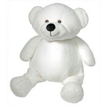 "Embroidery Buddy Stuffed Animal - Mister Buddy Bear 16"" - WHITE"