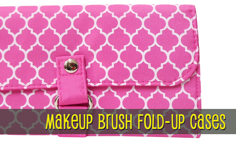 Makeup Brush Fold-Up Cases