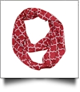 Quatrefoil Jersey Knit Infinity Scarf Embroidery Blanks - GARNET - CLOSEOUT