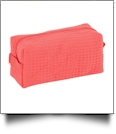 Cotton Waffle Cosmetic Bag Embroidery Blanks CLOSEOUT