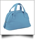 Large Cotton Waffle Accessory Bag Embroidery Blanks - Light Blue - CLOSEOUT