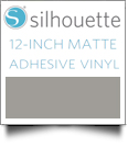 "Silhouette Matte Adhesive Vinyl 12"" x 6' Roll - SILVER"