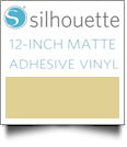 "Silhouette Matte Adhesive Vinyl 12"" x 6' Roll - BEIGE - CLOSEOUT"