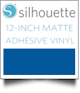 "Silhouette Matte Adhesive Vinyl 12"" x 6' Roll - BLUE"