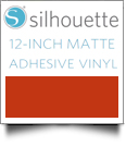 "Silhouette Matte Adhesive Vinyl 12"" x 6' Roll - RED"