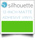 "Silhouette Matte Adhesive Vinyl 12"" x 6' Roll - LIGHT GREEN"