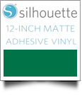 "Silhouette Matte Adhesive Vinyl 12"" x 6' Roll - GREEN"