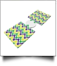 Unsewn Can Koozie Embroidery Blanks - Mardi Gras Chevron Beads