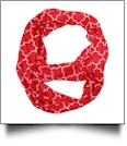 Quatrefoil Jersey Knit Infinity Scarf Embroidery Blanks - RED - CLOSEOUT