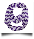 Chevron Jersey Knit Infinity Scarf Embroidery Blanks - PURPLE - CLOSEOUT
