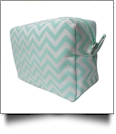 Chevron Cosmetic Bag Embroidery Blanks - MINT