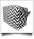Chevron Cosmetic Bag Embroidery Blanks - BLACK