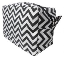 Chevron Cosmetic Bag Embroidery Blanks - BLACK - CLOSEOUT
