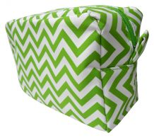Chevron Cosmetic Bag Embroidery Blanks - LIME - CLOSEOUT