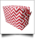 Chevron Cosmetic Bag Embroidery Blanks - RED