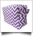 Chevron Cosmetic Bag Embroidery Blanks - PURPLE