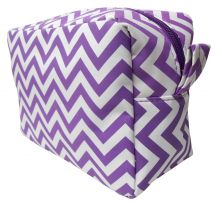 Chevron Cosmetic Bag Embroidery Blanks - PURPLE - CLOSEOUT