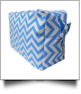 Chevron Cosmetic Bag Embroidery Blanks - AQUA