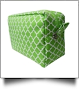 Quatrefoil Cosmetic Bag Embroidery Blanks - KIWI