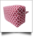 Quatrefoil Cosmetic Bag Embroidery Blanks - BURGUNDY