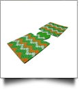Unsewn Can Koozie Embroidery Blanks - Luck o' the Irish Flag Chevron GREEN