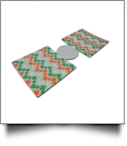 Unsewn 12oz Can Koozie Embroidery Blanks - Luck o' the Irish Flag Chevron GRAY