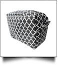 Quatrefoil Cosmetic Bag Embroidery Blanks - BLACK