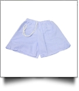 The Coral Palms® Blank Boys Gingham Swimming Trunks - BLUE