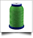 512 Green/Silver Snazzy Lok Premium Serger Thread 1000 Meter Spool - CLOSEOUT
