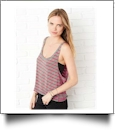 Bella + Canvas - Ladies' Flowy Boxy Tank Embroidery Blanks BLACK SMALL - IRREGULAR