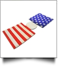 Unsewn 12oz Can Koozie Embroidery Blanks - VINTAGE OLD GLORY