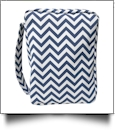 Bible Cover with Zipper Closure - NAVY CHEVRON
