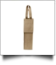 The Coral Palms™ Insulated Wine Bottle Tote w/ Monogrammable Flap - BURLAP