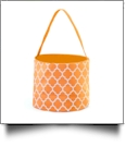 Monogrammable Easter Basket & Halloween Bucket Tote - ORANGE QUATREFOIL