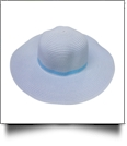 Kid's Wide Brim Floppy Hat Embroidery Blanks - SKY BLUE/AQUA