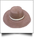 Kid's Wide Brim Floppy Hat Embroidery Blanks - BROWN/TAN - CLOSEOUT
