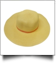 Kid's Wide Brim Floppy Hat Embroidery Blanks - YELLOW/ORANGE